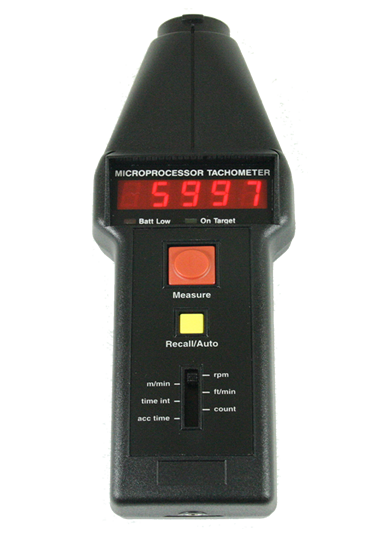 Compact CT6 Optical / Contact Handheld Tachometer with LED Display